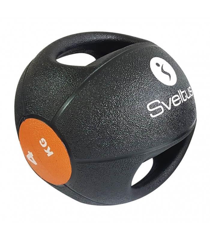Médecine ball avec poignées 4 kg