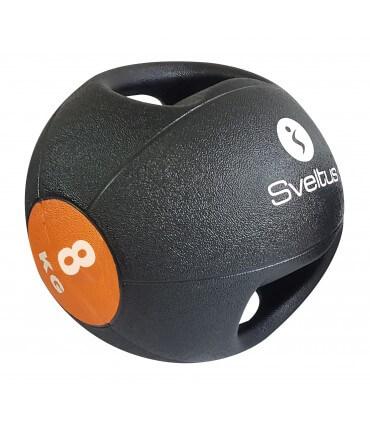 Double grip medicine ball - 8 kg