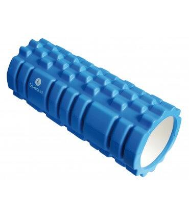 Foam roller with grid blue