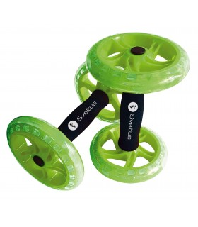 Double Ab wheel green x2