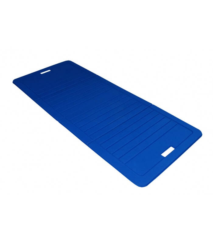 Foldable foam mat blue 140x60 cm