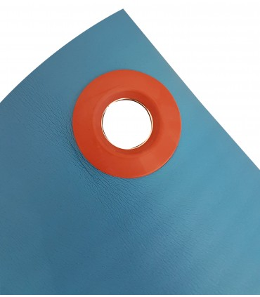 Tapis mousse HD bleu L140 cm
