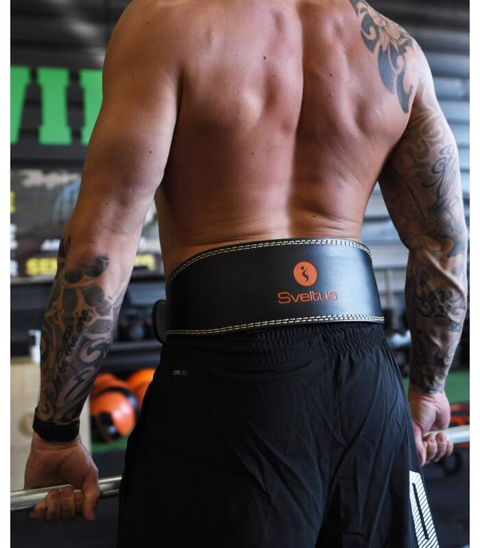 Leather weightlifting belt 105 cm