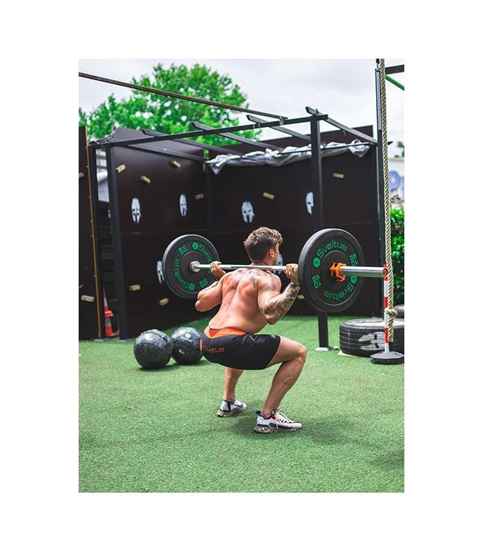 Men's olympic bar 220 cm orange
