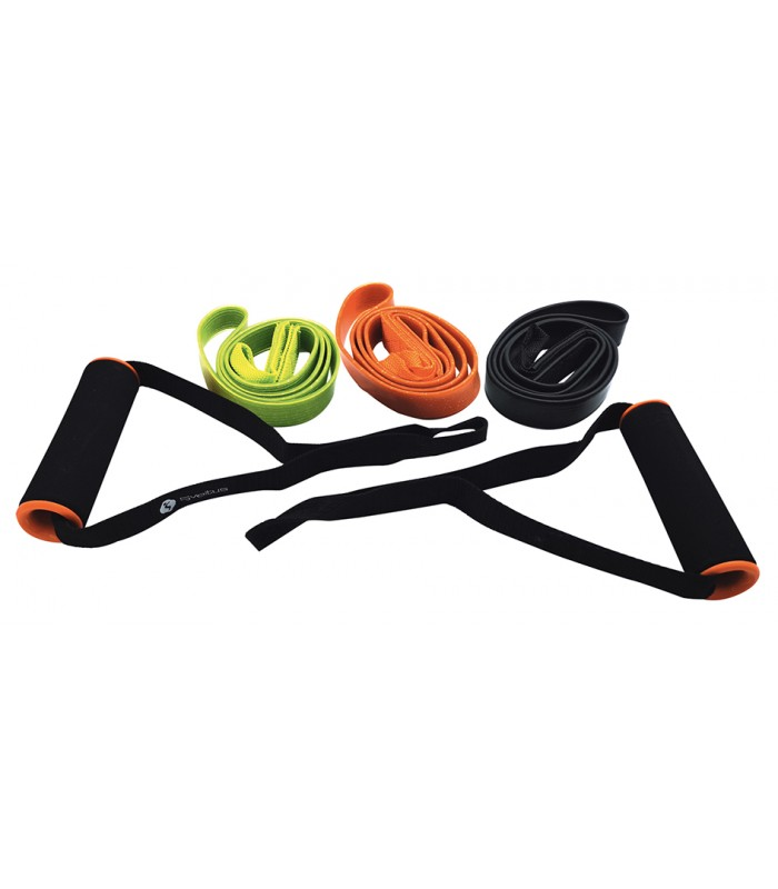 Set of 3 fitness elastic bands