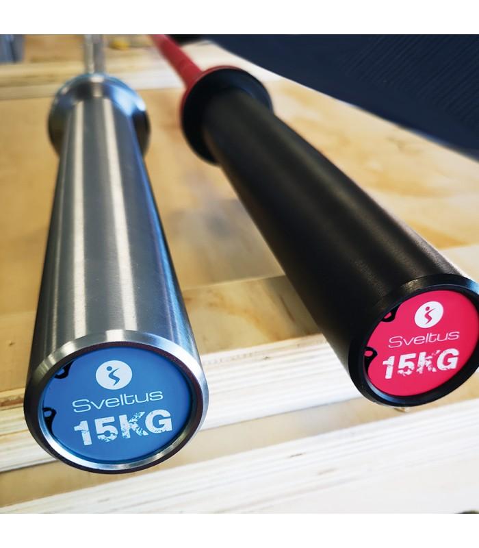 Barre olympique 15kg - bleu ciel