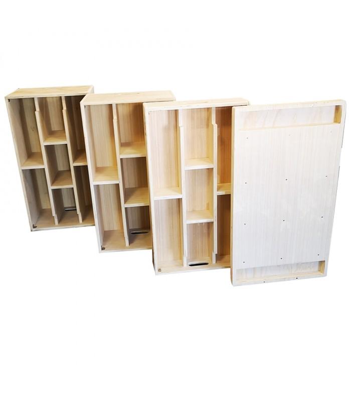 Set of wood jerk blocks