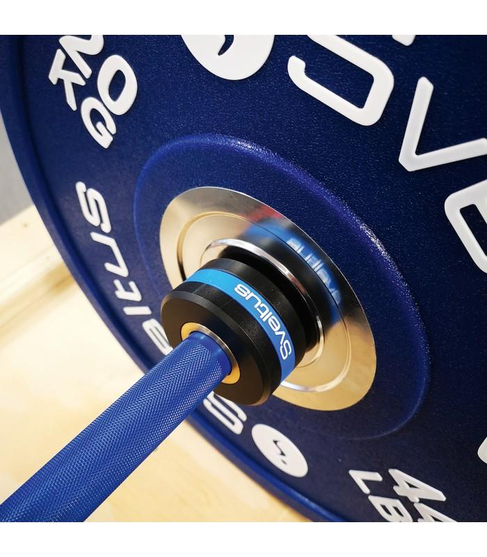 Barre olympique homme 220 cm bleu royal