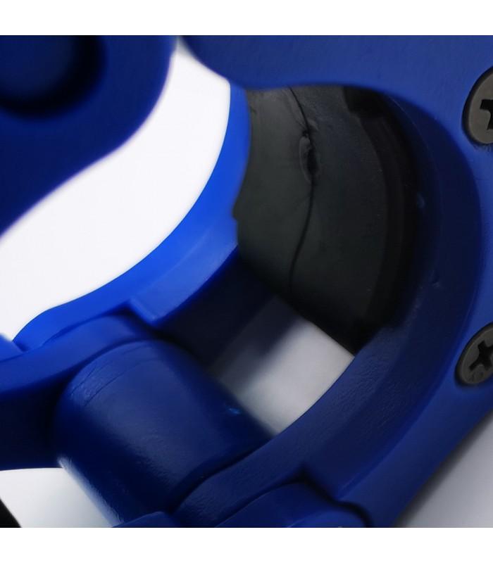 Stop disque barre olympique bleu x2