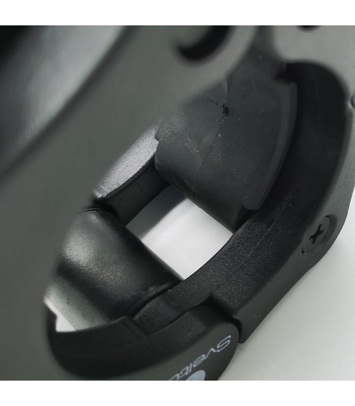 Stop disque barre olympique noir x2