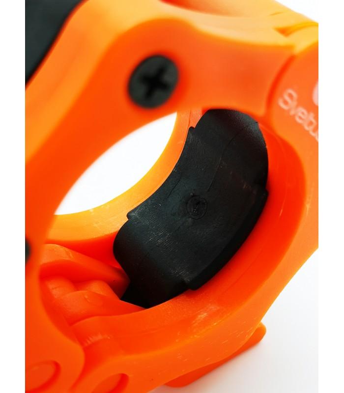 Stop disque barre olympique orange x2