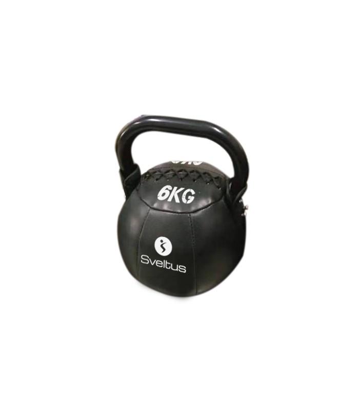 Soft kettlebell PU black 6 kg