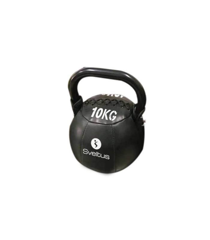 Soft kettlebell PU noir 10 kg