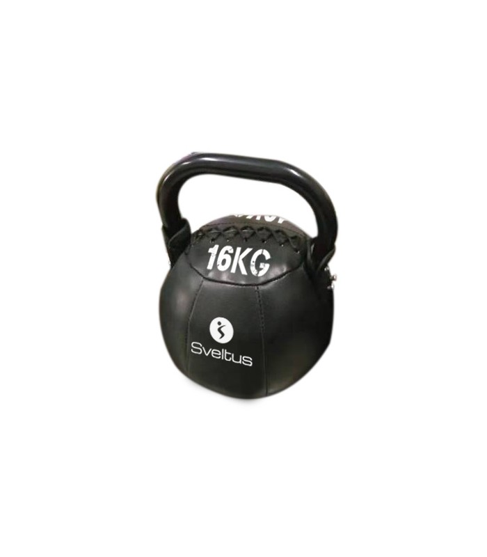 Soft kettlebell PU black 16 kg